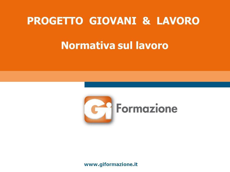 PROGETTO GIOVANI & LAVORO Normativa sul lavoro