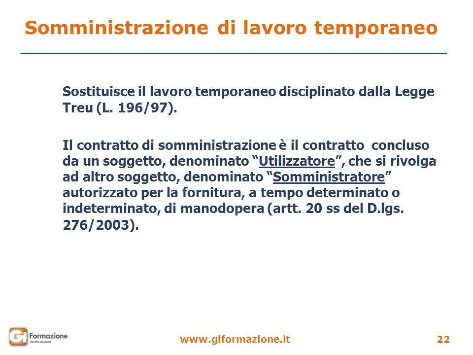 Somministrazione di lavoro temporaneo
