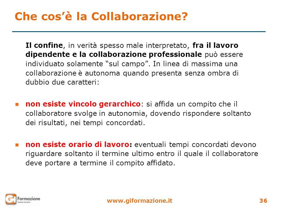 Che cos'è la Collaborazione
