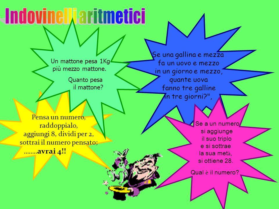 Indovinelli aritmetici