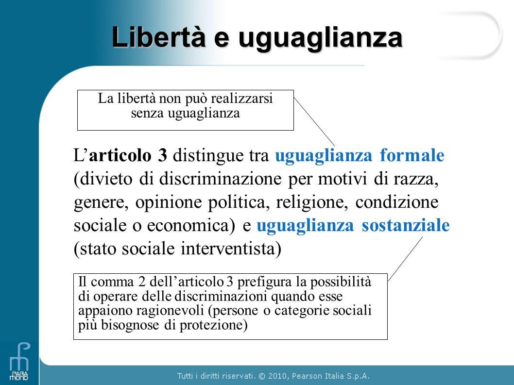 La libertà non può realizzarsi senza uguaglianza