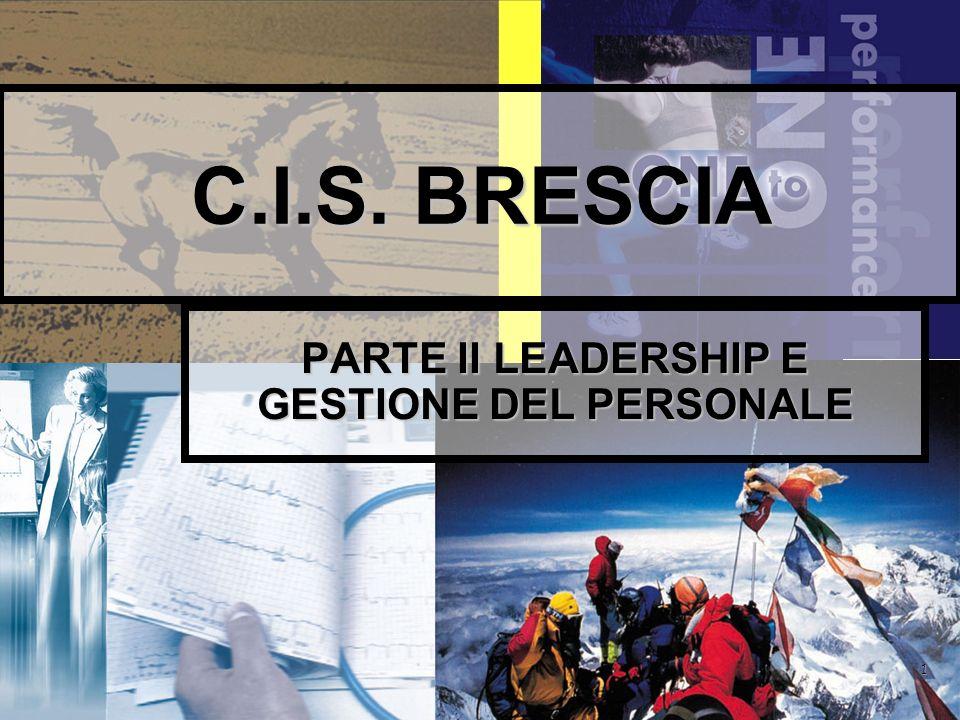 PARTE II LEADERSHIP E GESTIONE DEL PERSONALE