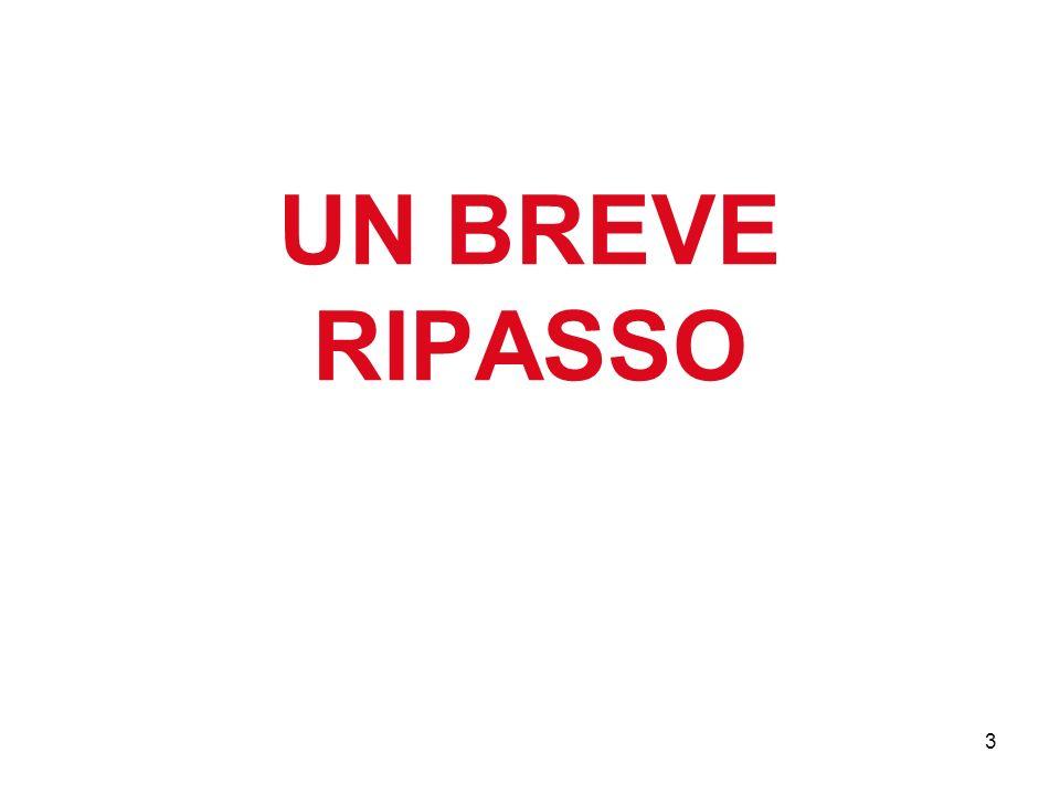 UN BREVE RIPASSO