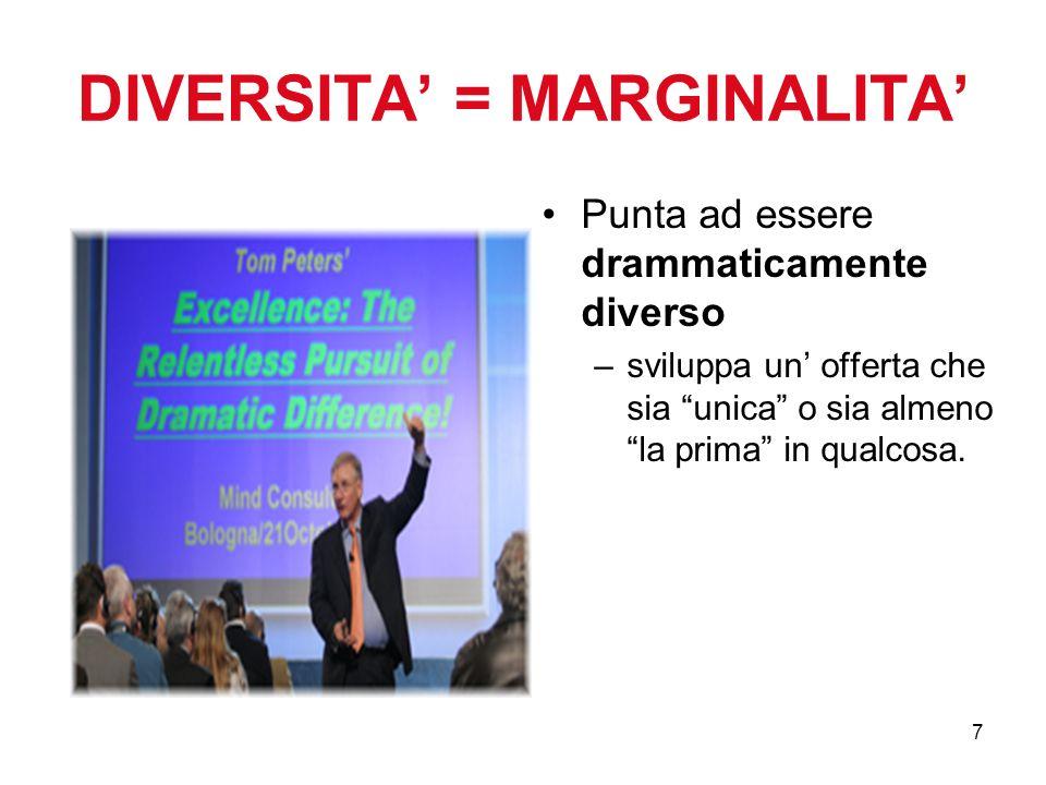 DIVERSITA' = MARGINALITA'