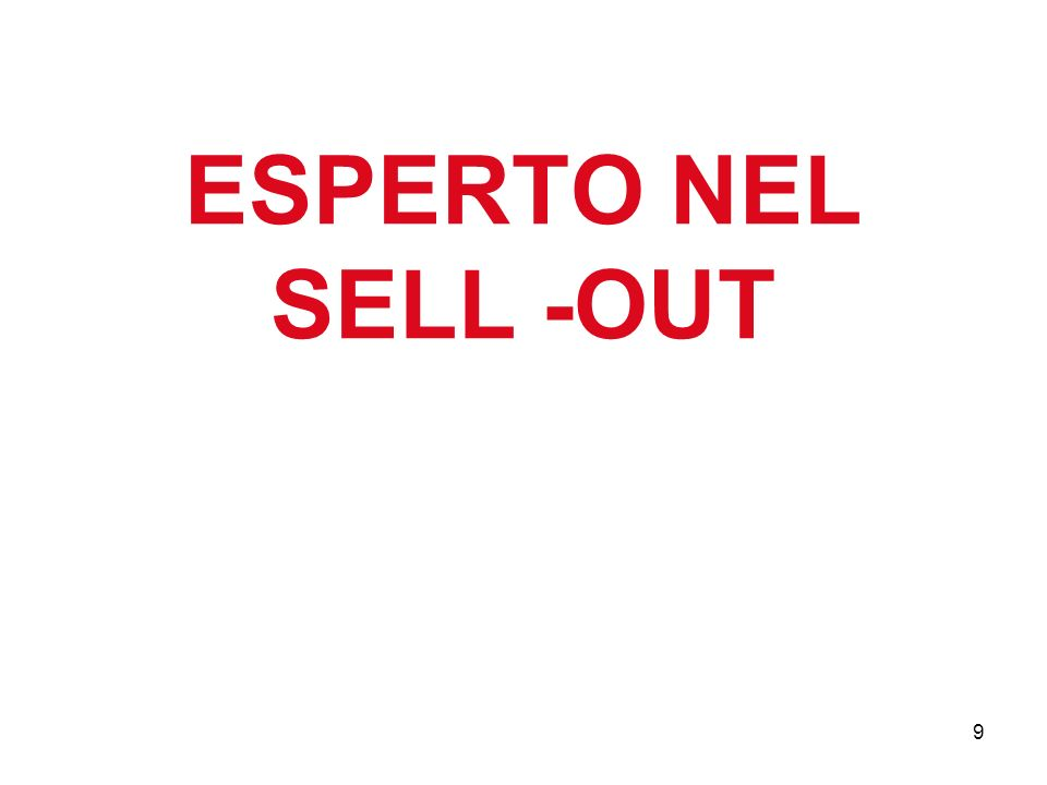 ESPERTO NEL SELL -OUT