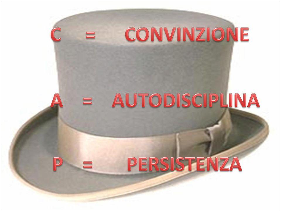 C = CONVINZIONE A = AUTODISCIPLINA P = PERSISTENZA