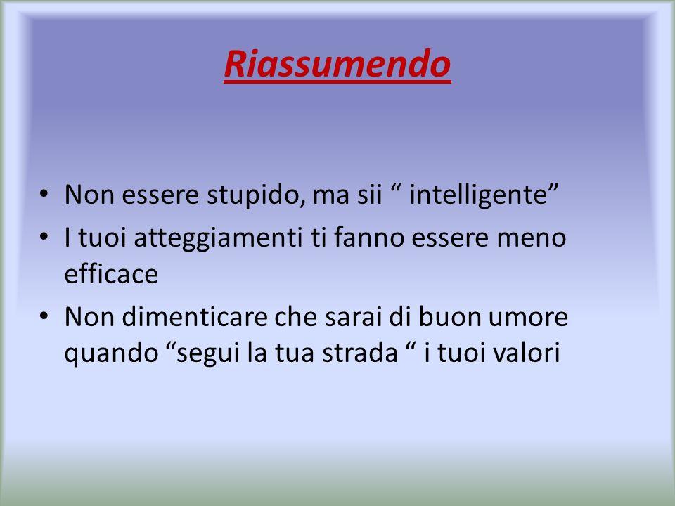 Riassumendo Non essere stupido, ma sii intelligente