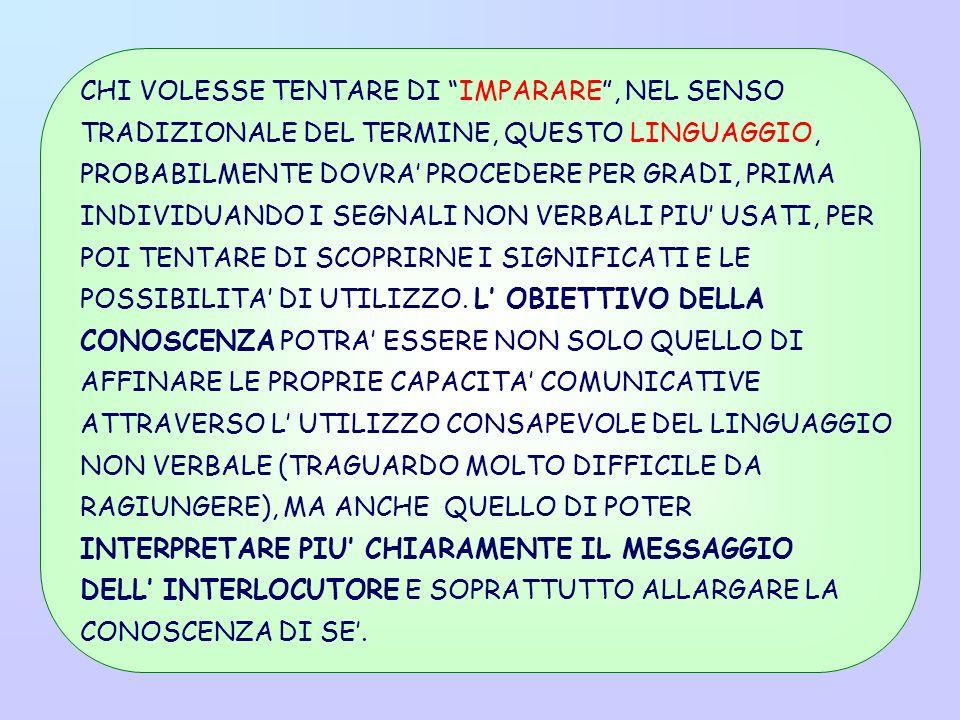 CHI VOLESSE TENTARE DI IMPARARE , NEL SENSO