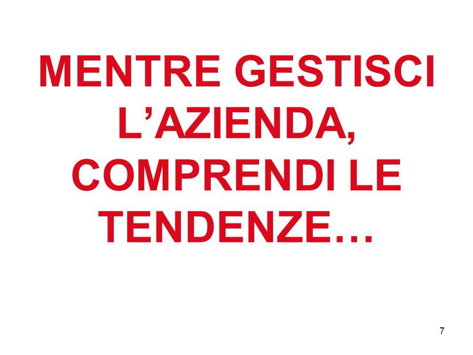 MENTRE GESTISCI L'AZIENDA, COMPRENDI LE TENDENZE…