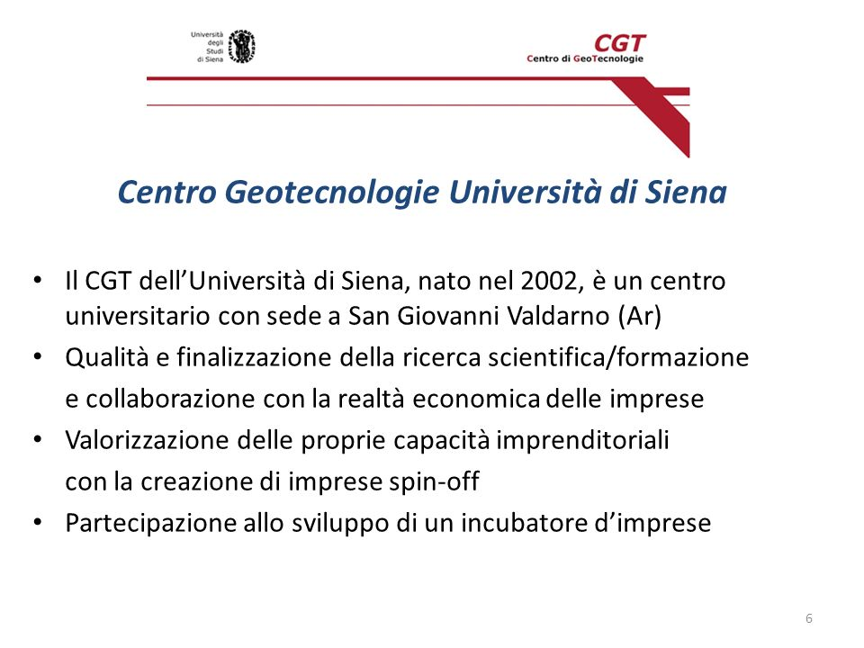 Centro Geotecnologie Università di Siena