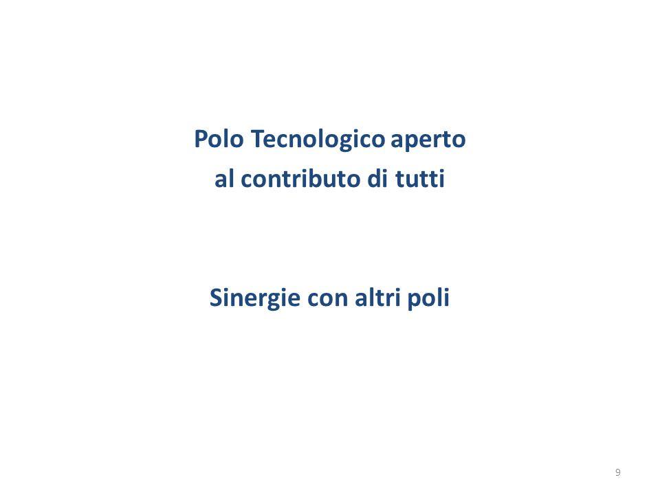 Polo Tecnologico aperto al contributo di tutti Sinergie con altri poli
