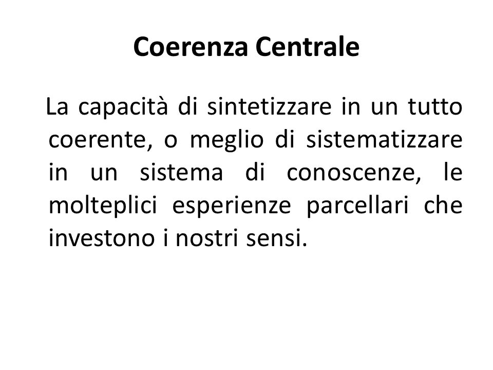 Coerenza Centrale