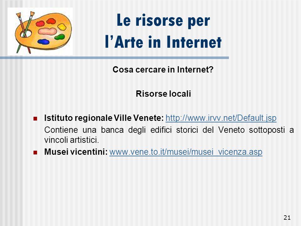Le risorse per l'Arte in Internet