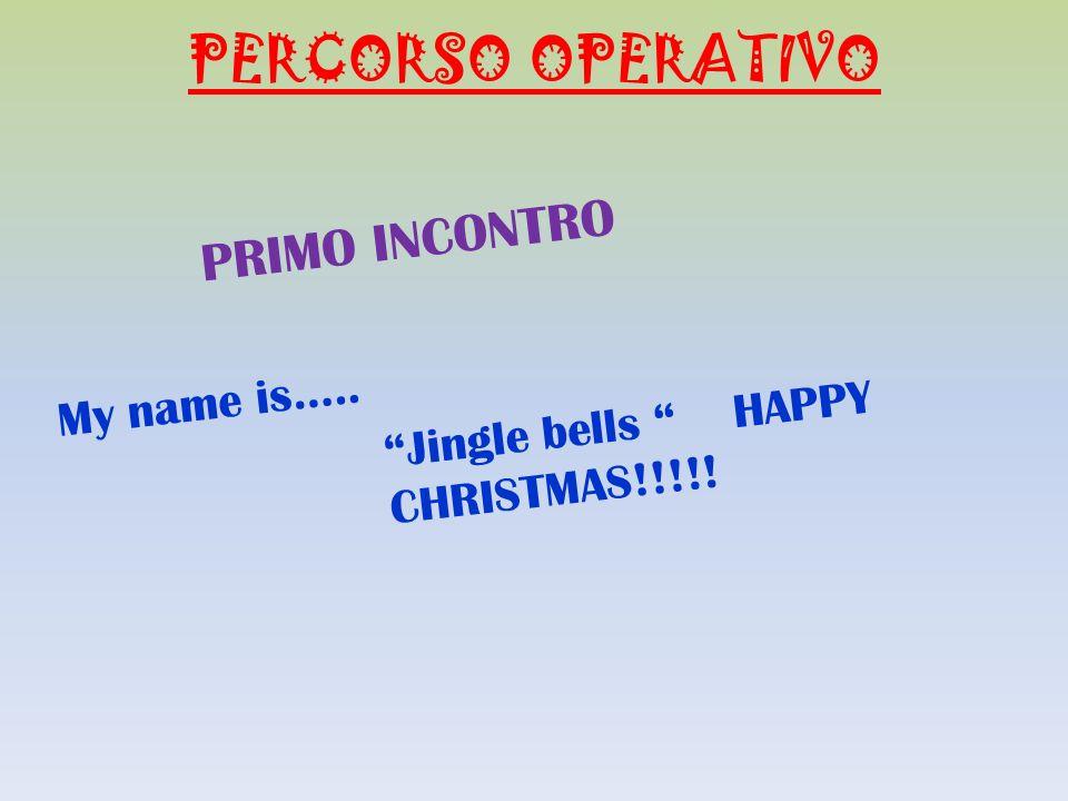PERCORSO OPERATIVO PRIMO INCONTRO My name is…..