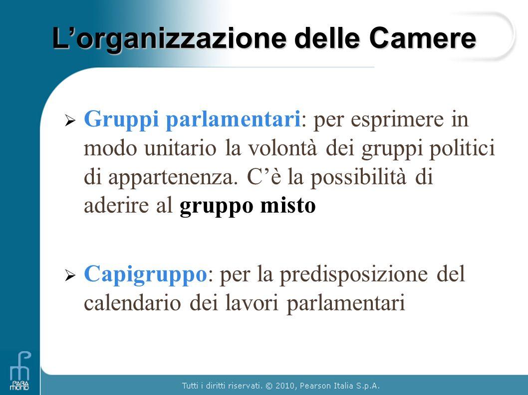 Il parlamento i compiti la composizione l organizzazione for Gruppi parlamentari