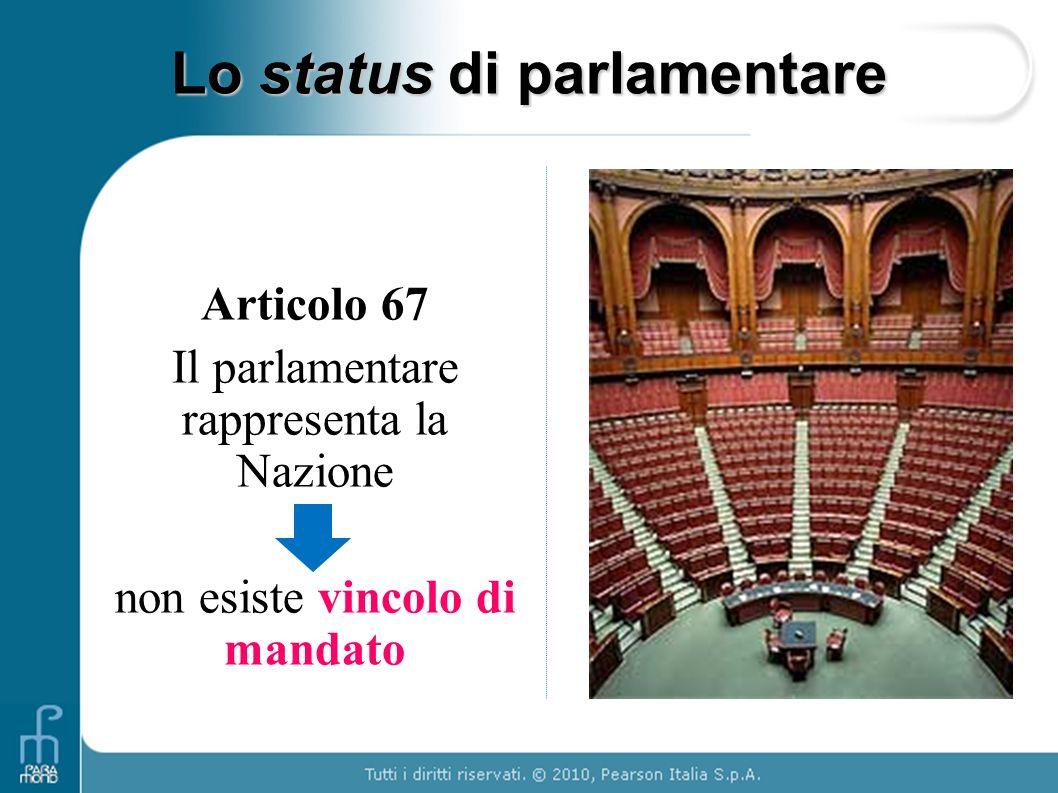 Lo status di parlamentare
