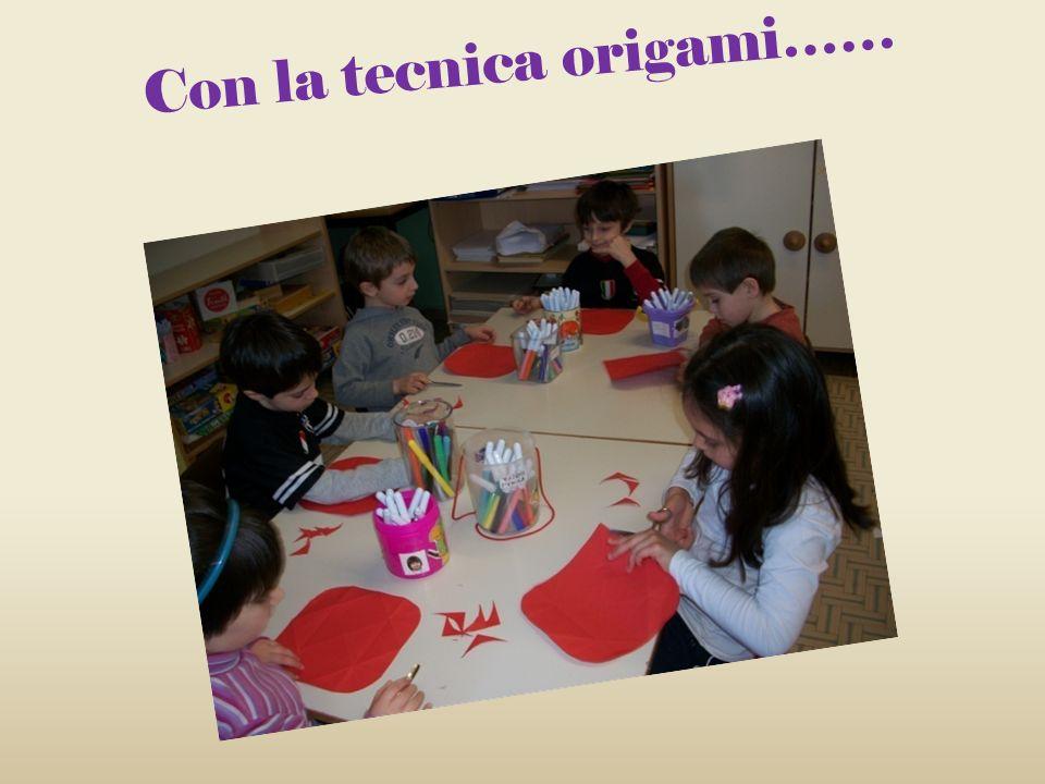 Con la tecnica origami……