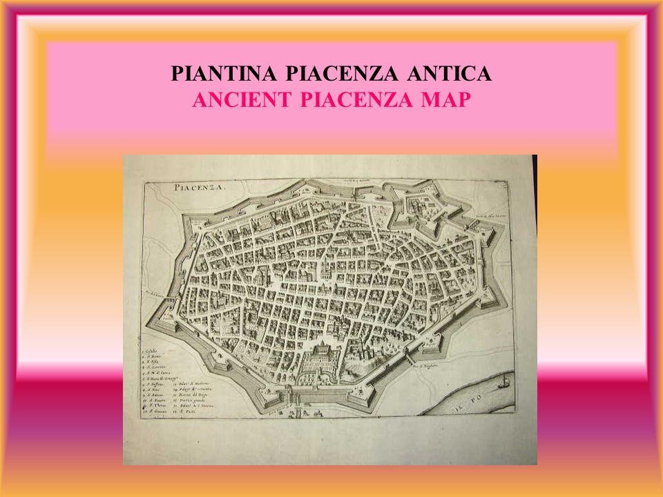 PIANTINA PIACENZA ANTICA ANCIENT PIACENZA MAP
