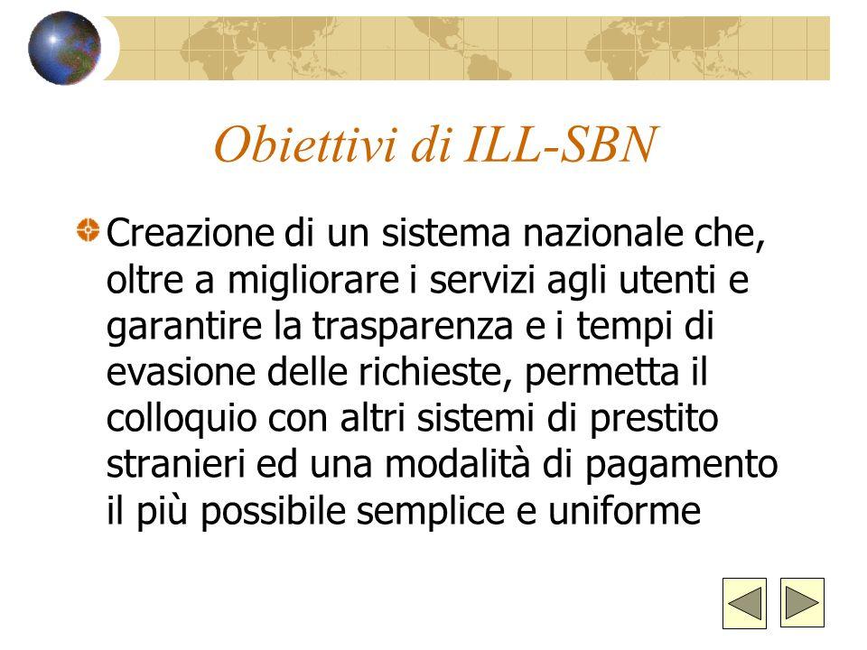 Obiettivi di ILL-SBN