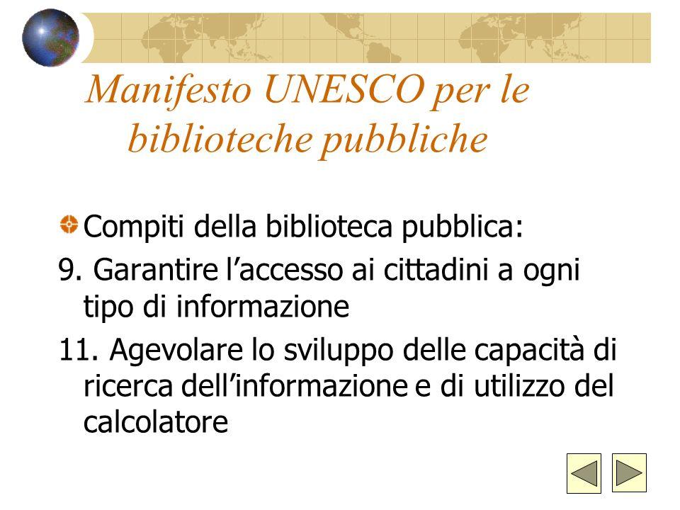 Manifesto UNESCO per le biblioteche pubbliche