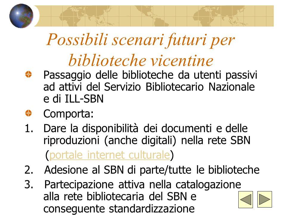 Possibili scenari futuri per biblioteche vicentine