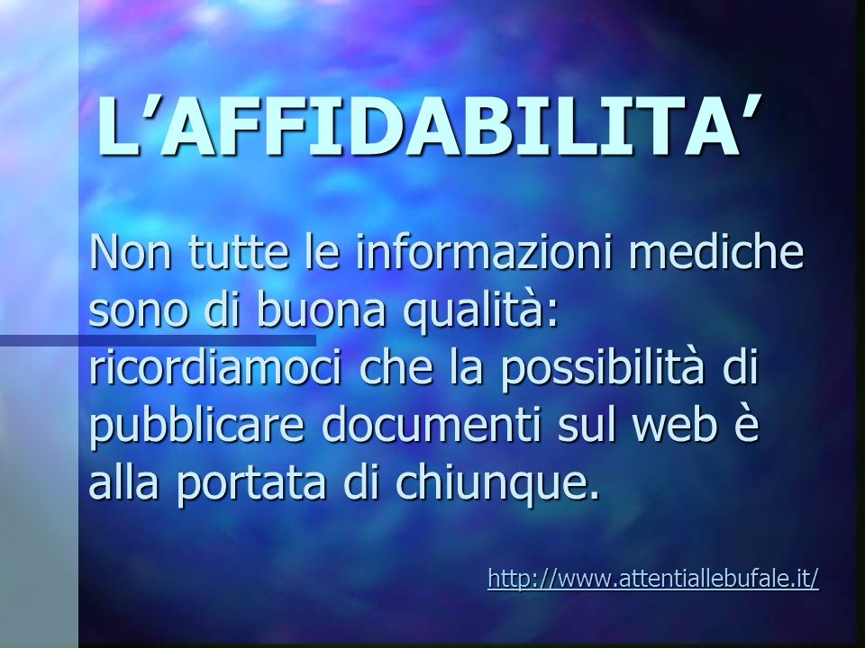L'AFFIDABILITA'