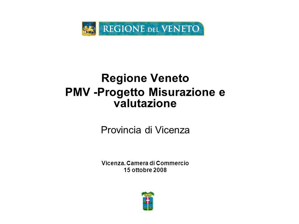 PMV -Progetto Misurazione e valutazione Vicenza. Camera di Commercio