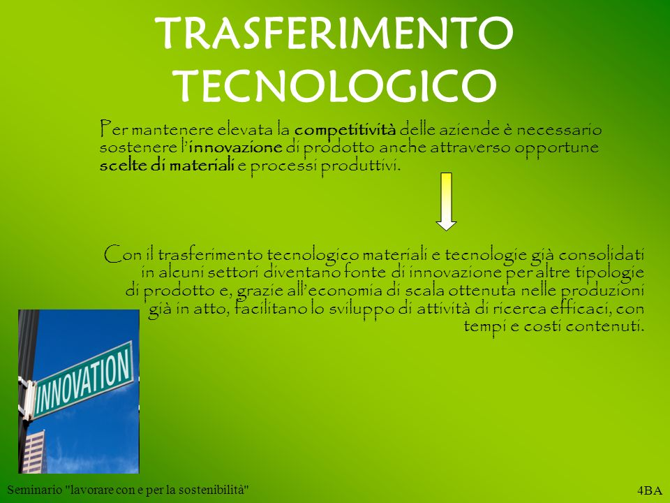 TRASFERIMENTO TECNOLOGICO