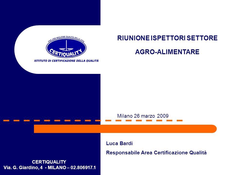 RIUNIONE ISPETTORI SETTORE Via. G. Giardino, 4 - MILANO – 02.806917.1