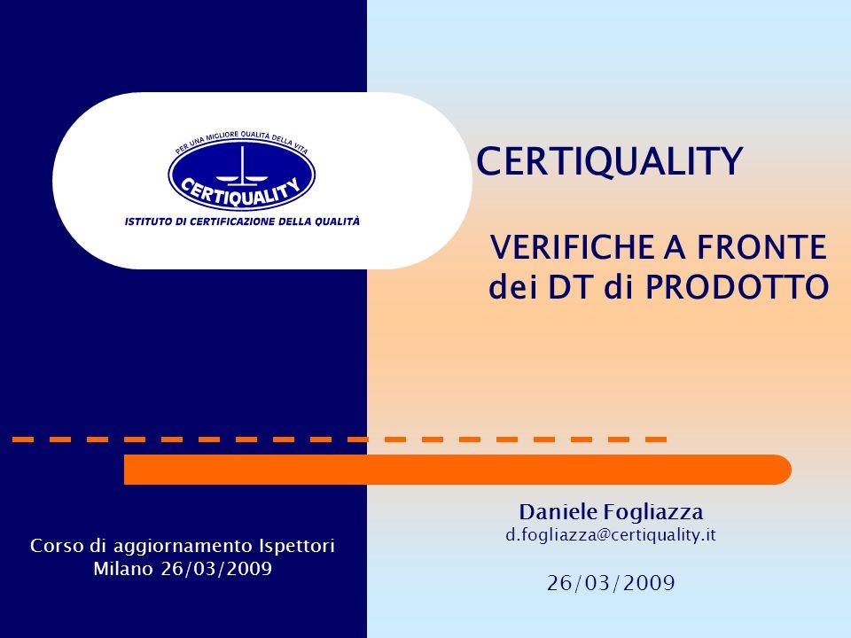 Corso di aggiornamento Ispettori Milano 26/03/2009