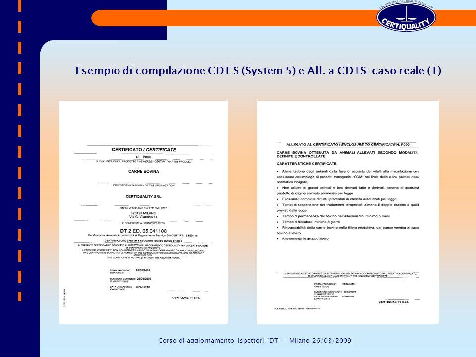 Corso di aggiornamento Ispettori DT - Milano 26/03/2009