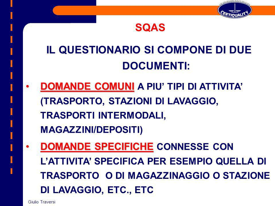 IL QUESTIONARIO SI COMPONE DI DUE DOCUMENTI:
