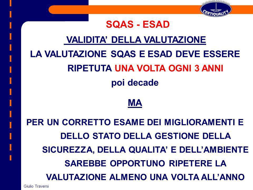SQAS - ESAD MA VALIDITA' DELLA VALUTAZIONE