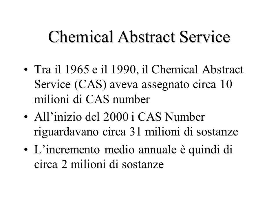 Chemical Abstract Service