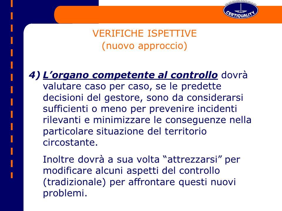 VERIFICHE ISPETTIVE (nuovo approccio)
