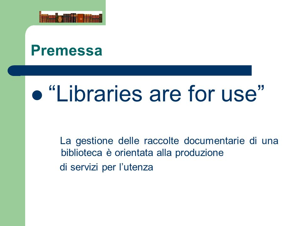 Libraries are for use