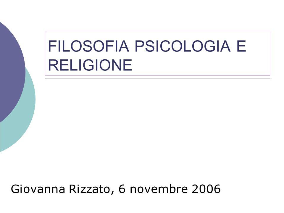 FILOSOFIA PSICOLOGIA E RELIGIONE