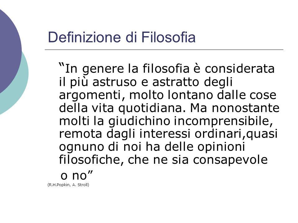 Definizione di Filosofia