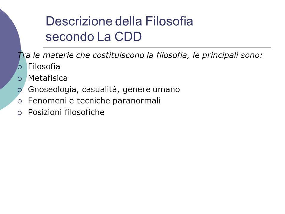 Descrizione della Filosofia secondo La CDD