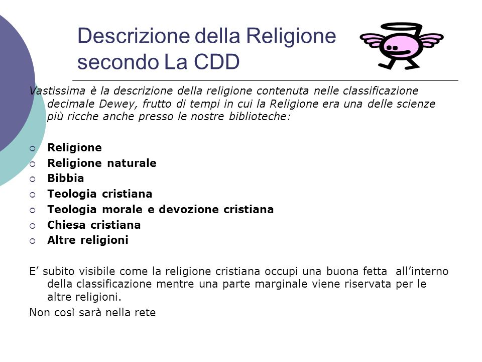 Descrizione della Religione secondo La CDD
