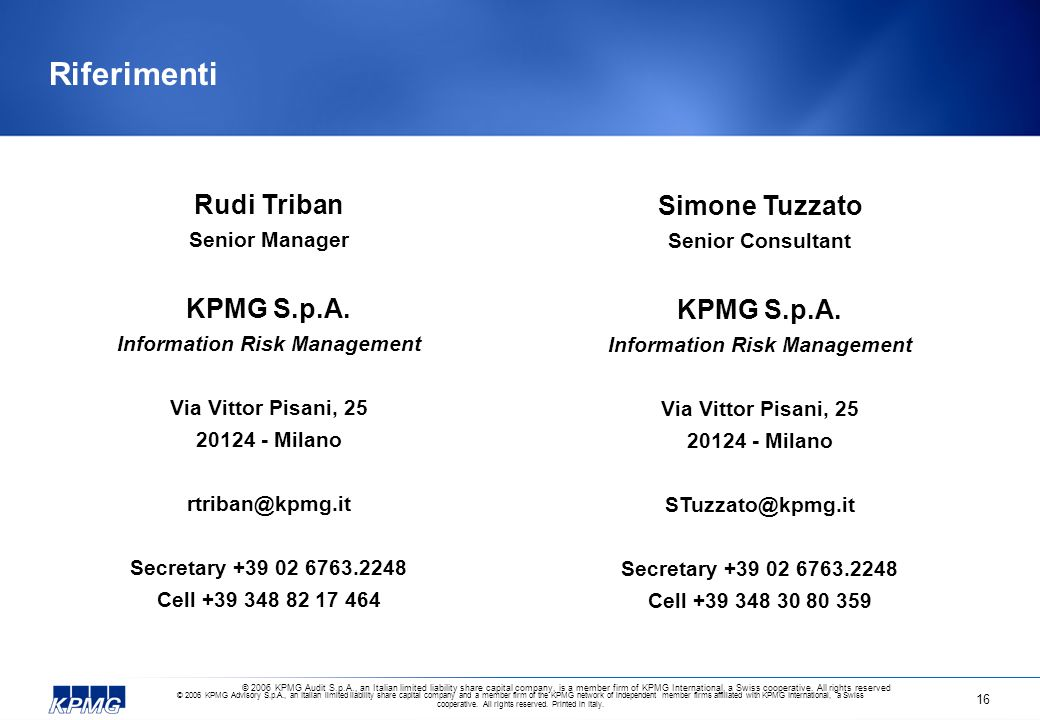 Information Risk Management Information Risk Management