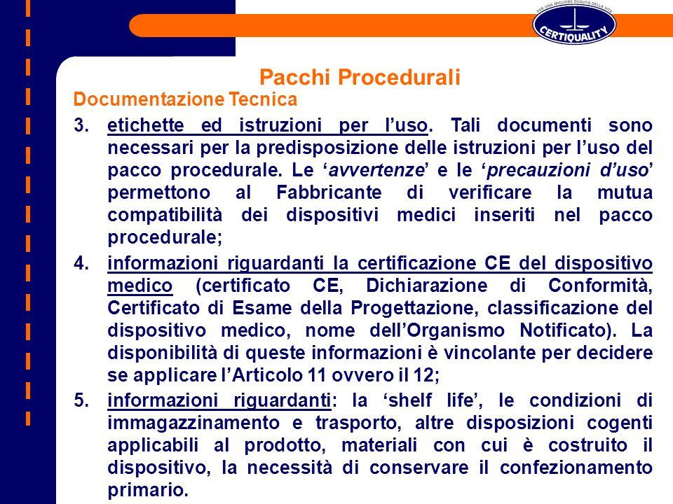 Pacchi Procedurali Documentazione Tecnica