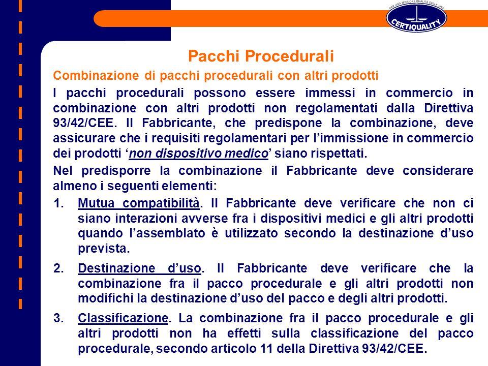 Pacchi Procedurali Combinazione di pacchi procedurali con altri prodotti.