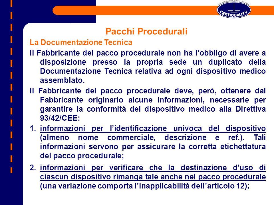Pacchi Procedurali La Documentazione Tecnica