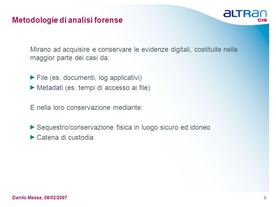 Metodologie di analisi forense
