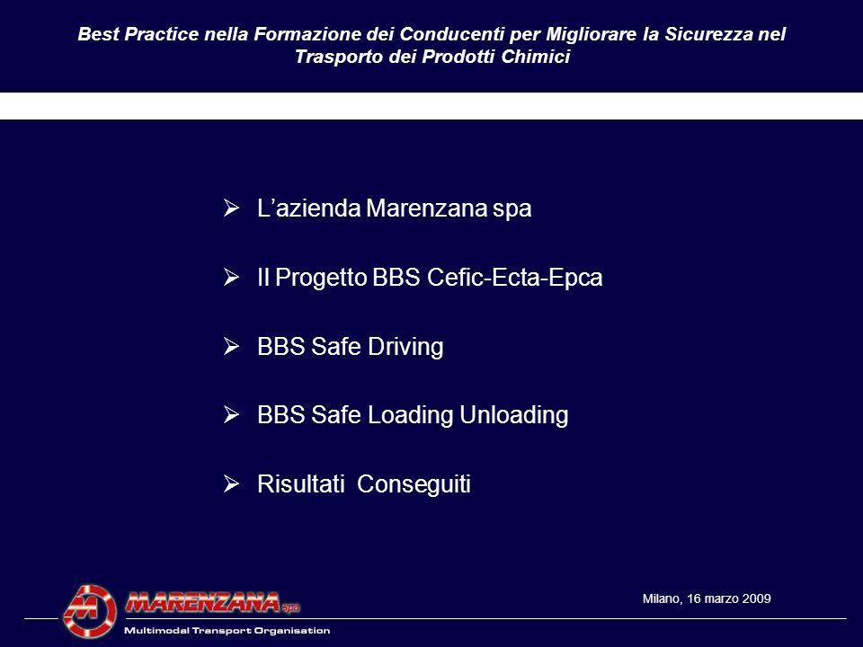 L'azienda Marenzana spa Il Progetto BBS Cefic-Ecta-Epca