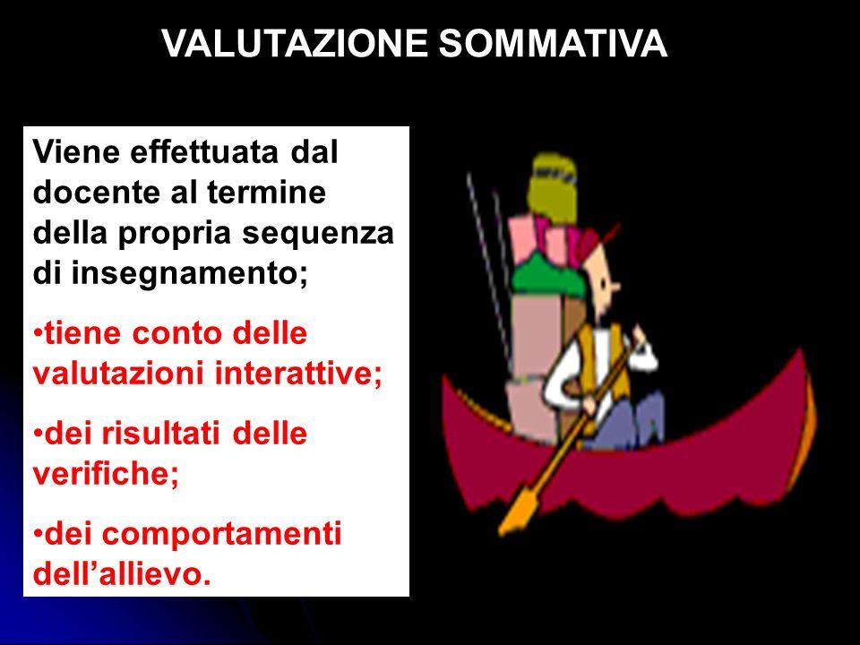 VALUTAZIONE SOMMATIVA
