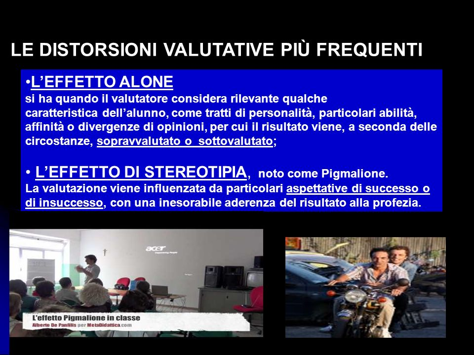 LE DISTORSIONI VALUTATIVE PIÙ FREQUENTI