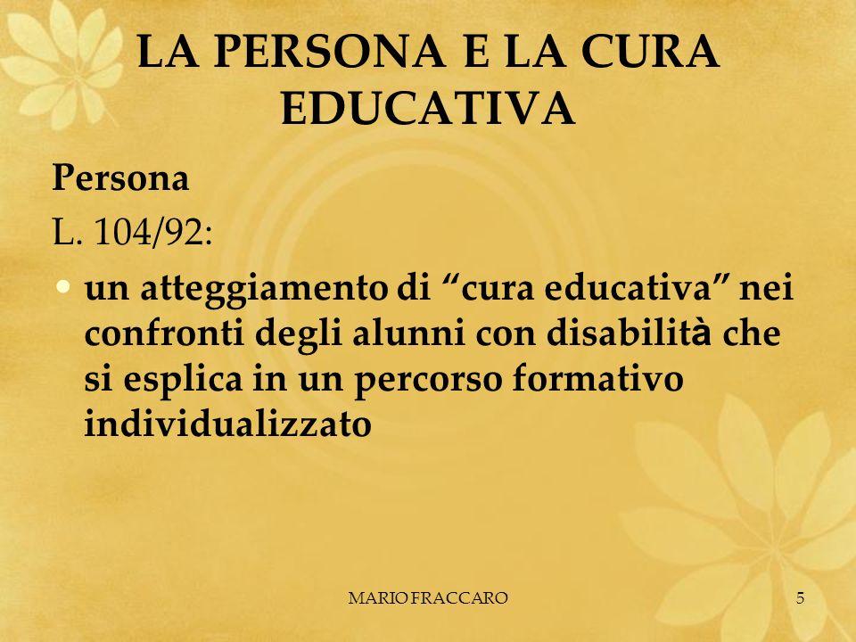 LA PERSONA E LA CURA EDUCATIVA