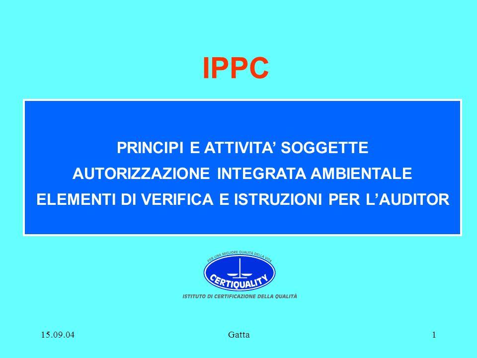 IPPC PRINCIPI E ATTIVITA' SOGGETTE AUTORIZZAZIONE INTEGRATA AMBIENTALE